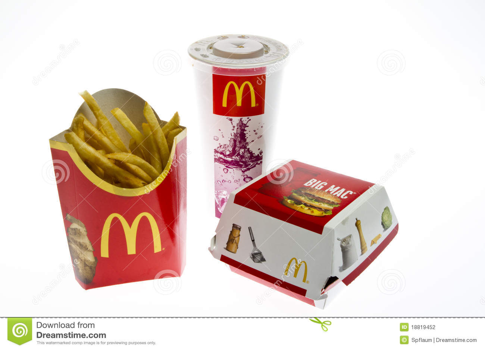 McDonalds Big Mac Menu Editorial Photography Image 18819452