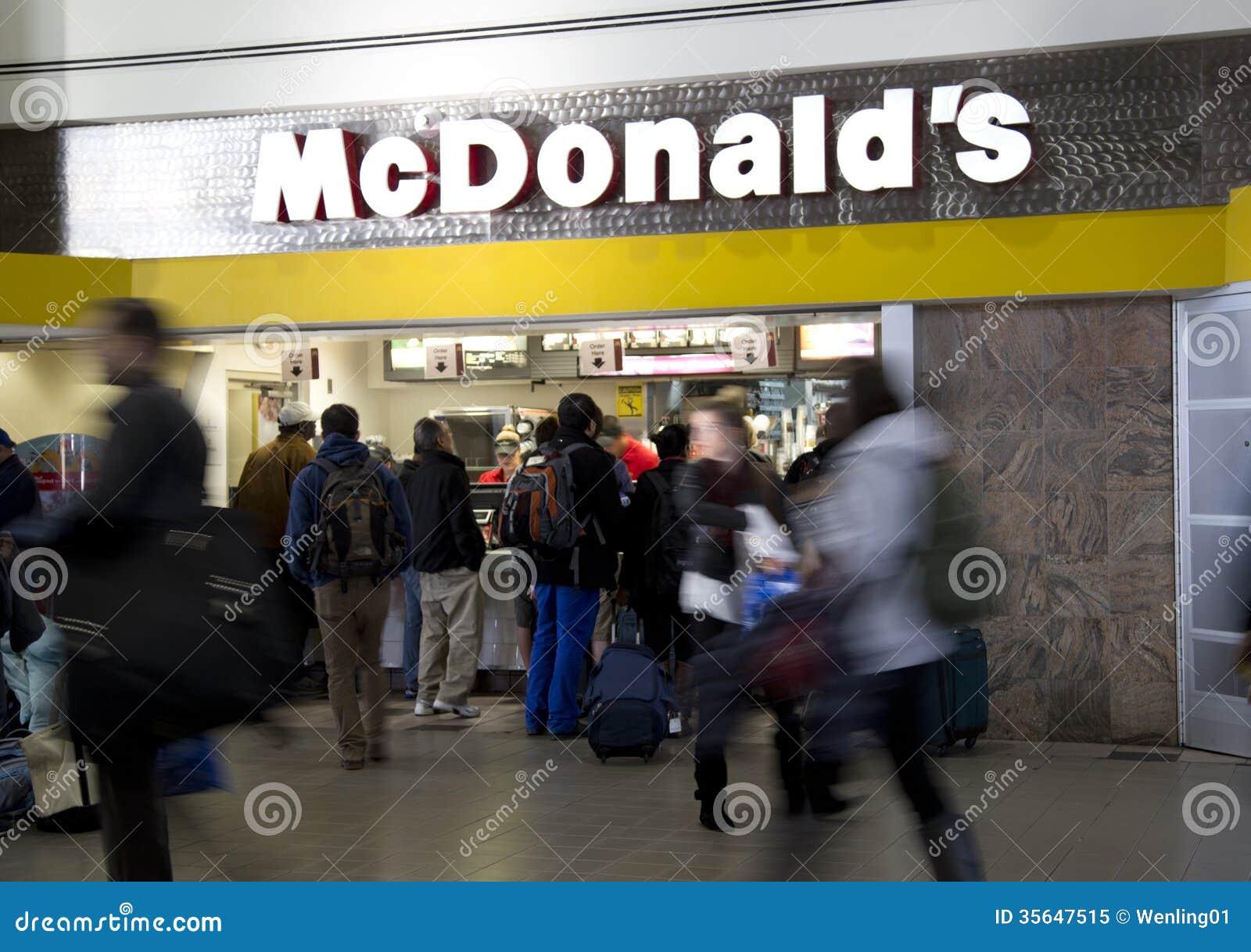 McDonalds no aeroporto