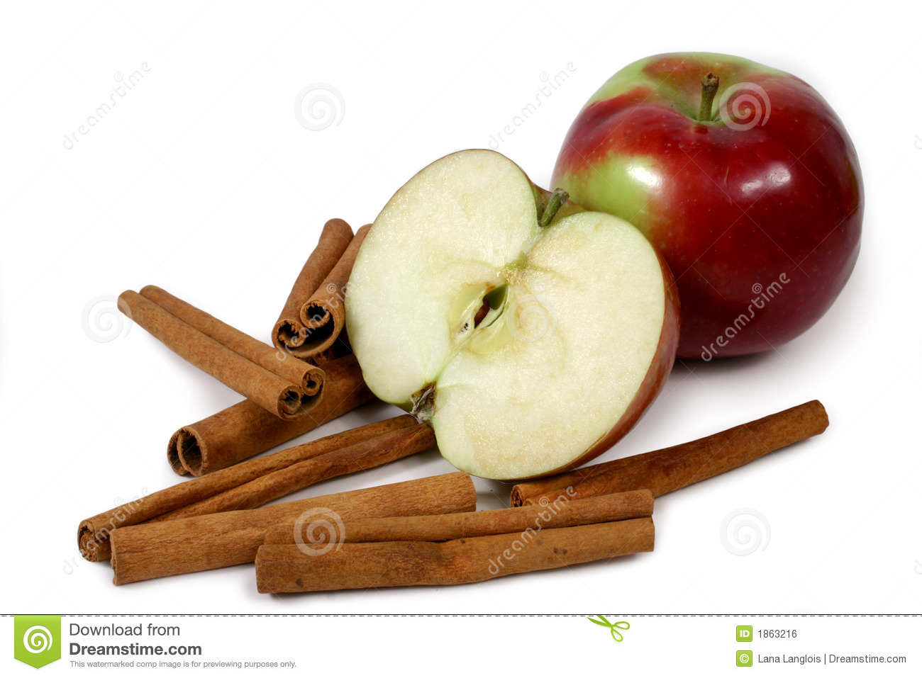 Mcintosh apples and cinnamon