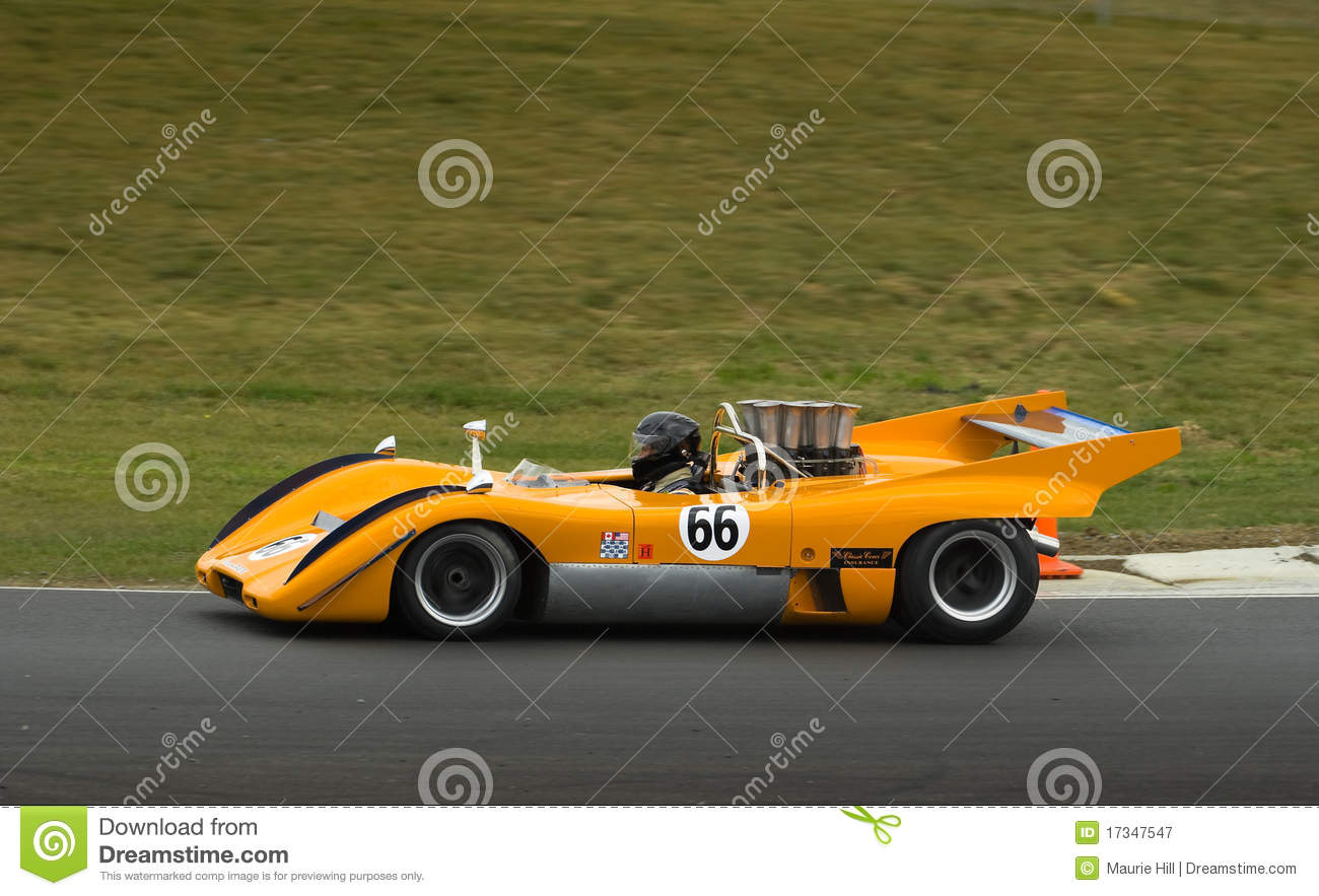 mclaren can am racing car at speed editorial photography image 17347547. Black Bedroom Furniture Sets. Home Design Ideas