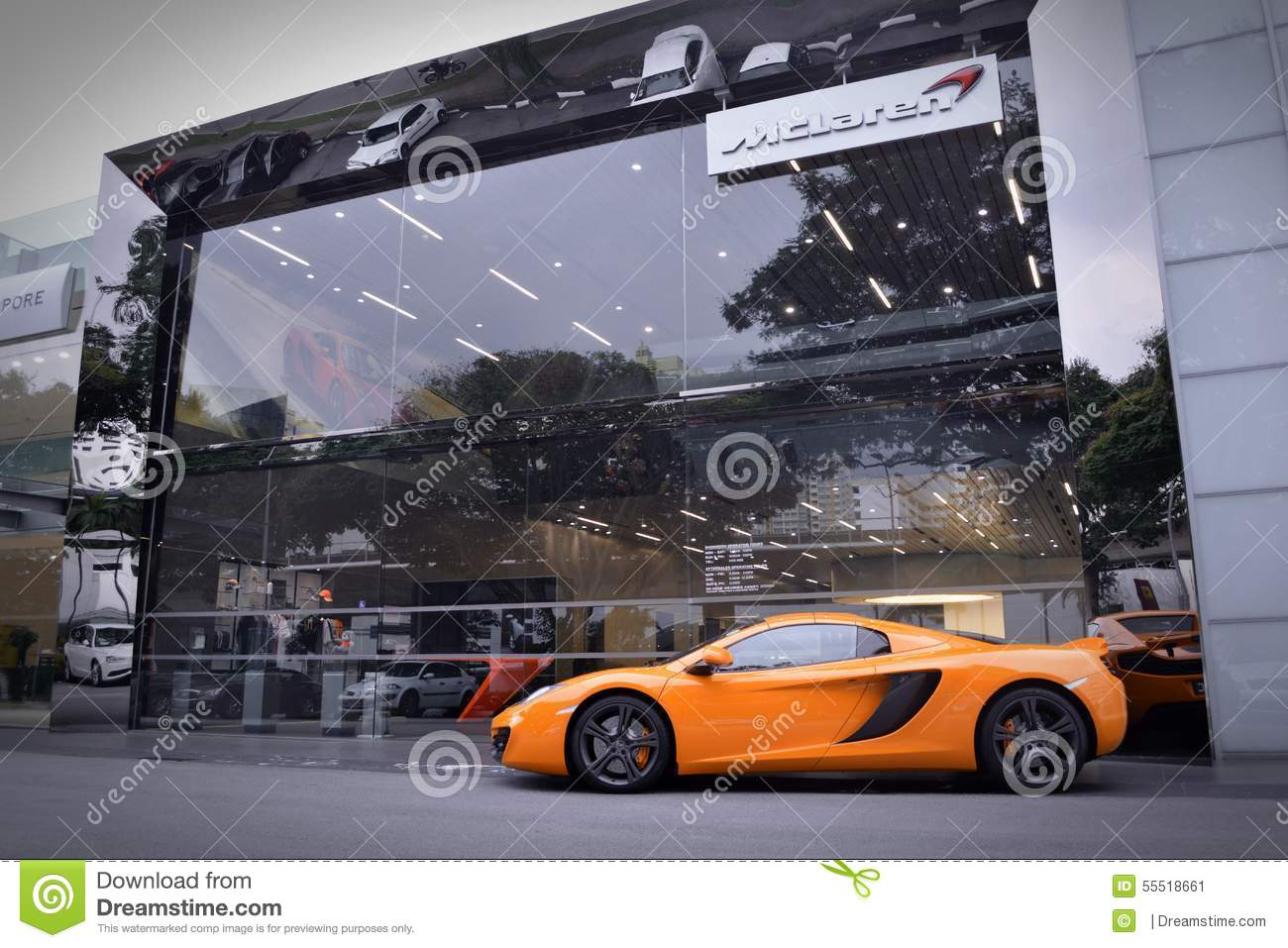 Mclaren Singapore Editorial Photo Image