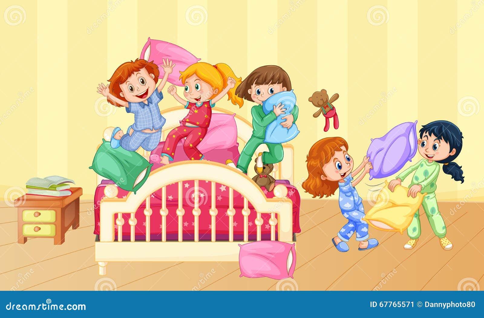 pyjama party spiele