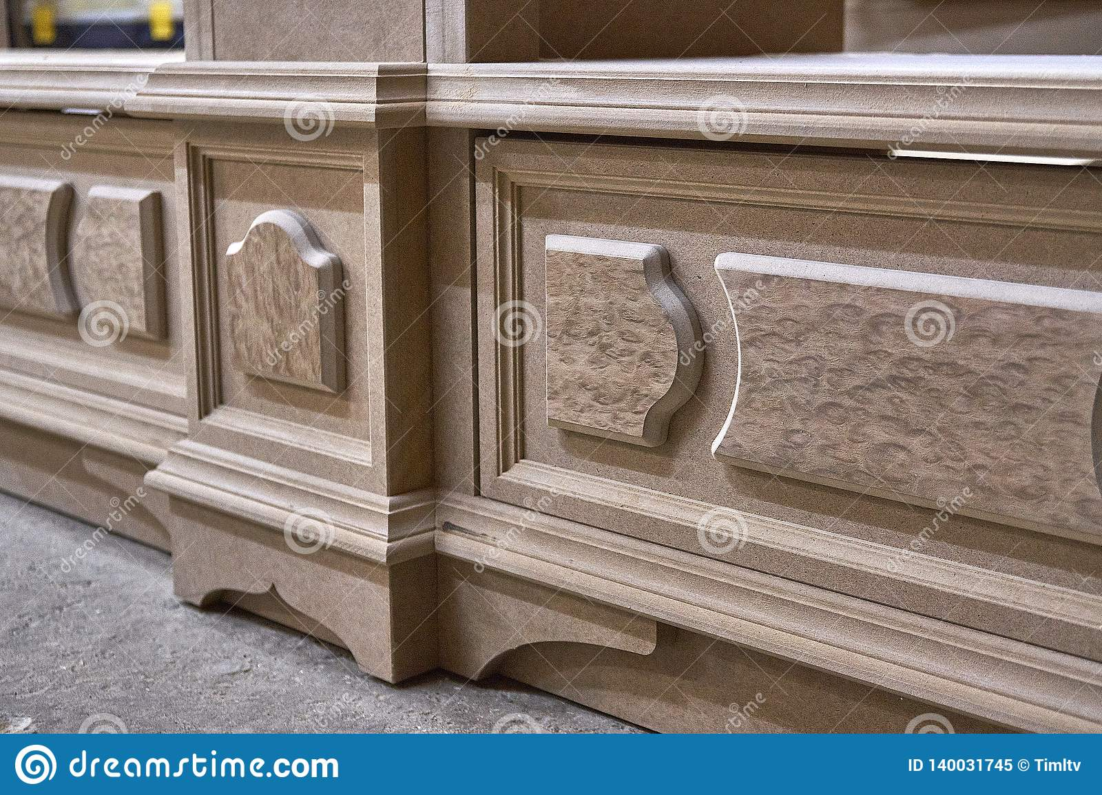 Mdf Cabinet Carcass With Moldings And Decor  Home Library With