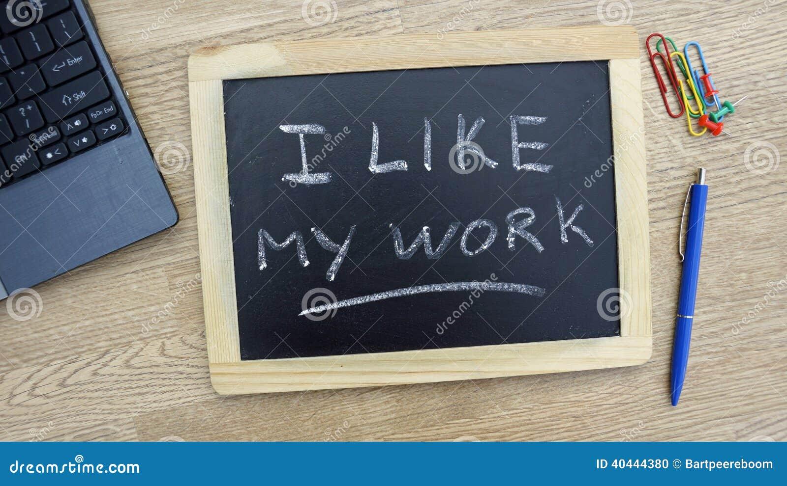 Me Gusta Mi Trabajo Foto De Archivo Imagen De Furioso 40444380