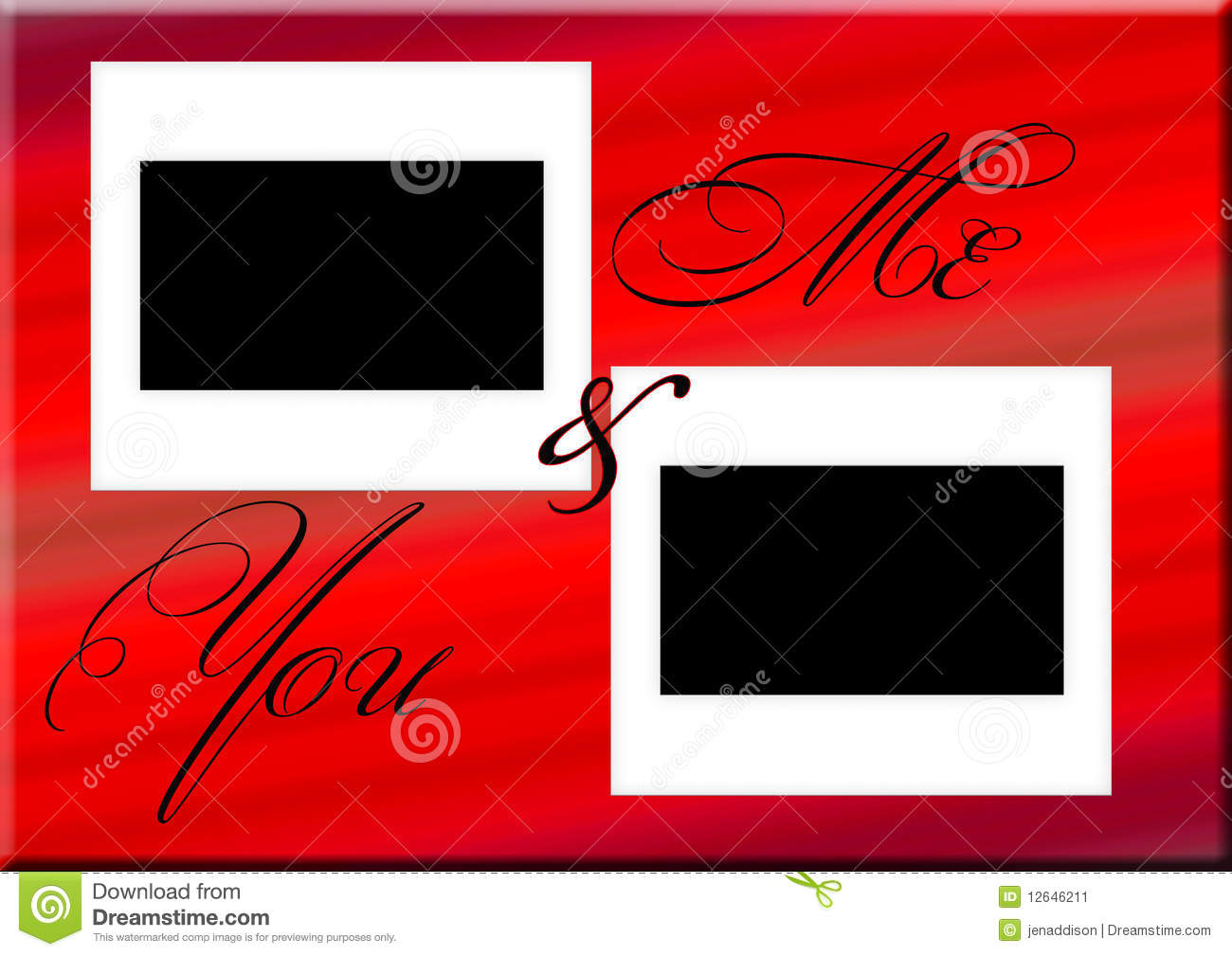 Me And You Frame Stock Illustration Illustration Of Grungy 12646211