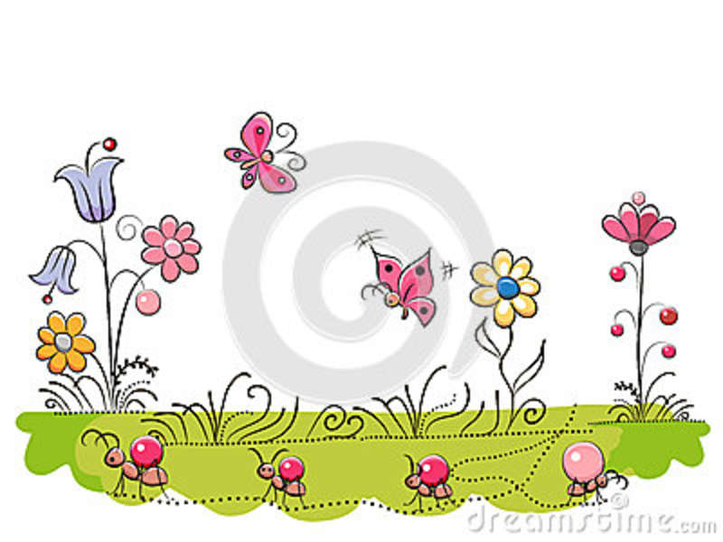 Meadow with Cute Flowers