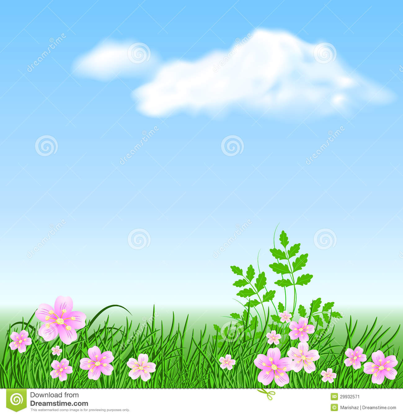 Meadow Flowers On The Sky Background Stock Image - Image: 29932571 Blue Easter Eggs