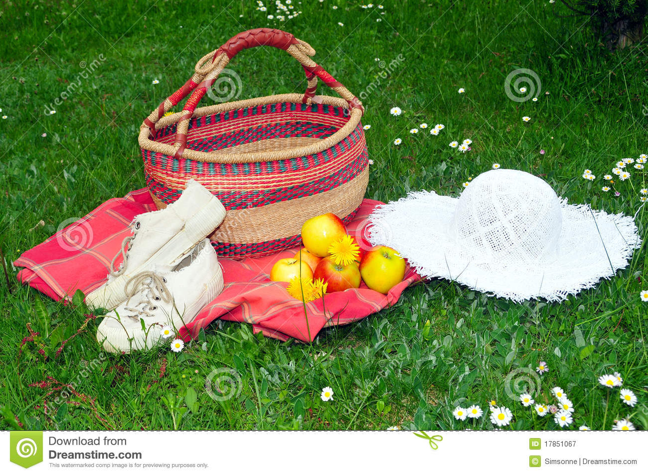 Meadow Picnic Garden Hat Royalty Free Stock Photography