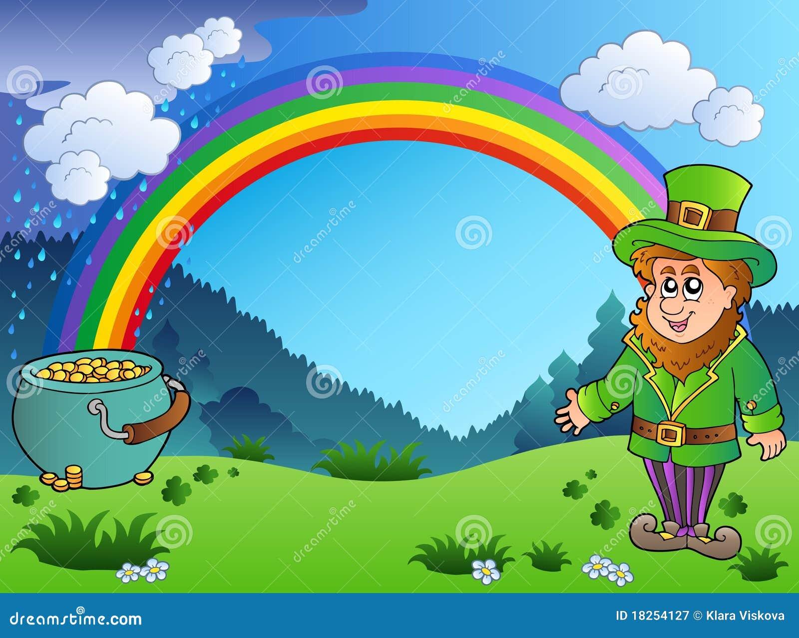 Uncategorized Leprechauns And Rainbows meadow with rainbow and leprechaun royalty free stock photography photo download leprechaun