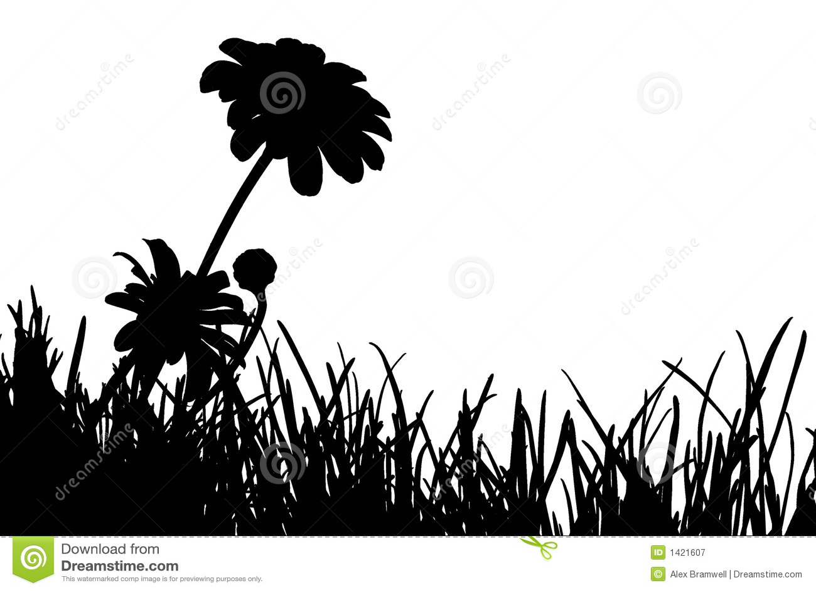 Daisy Silhouette Meadow silhouette