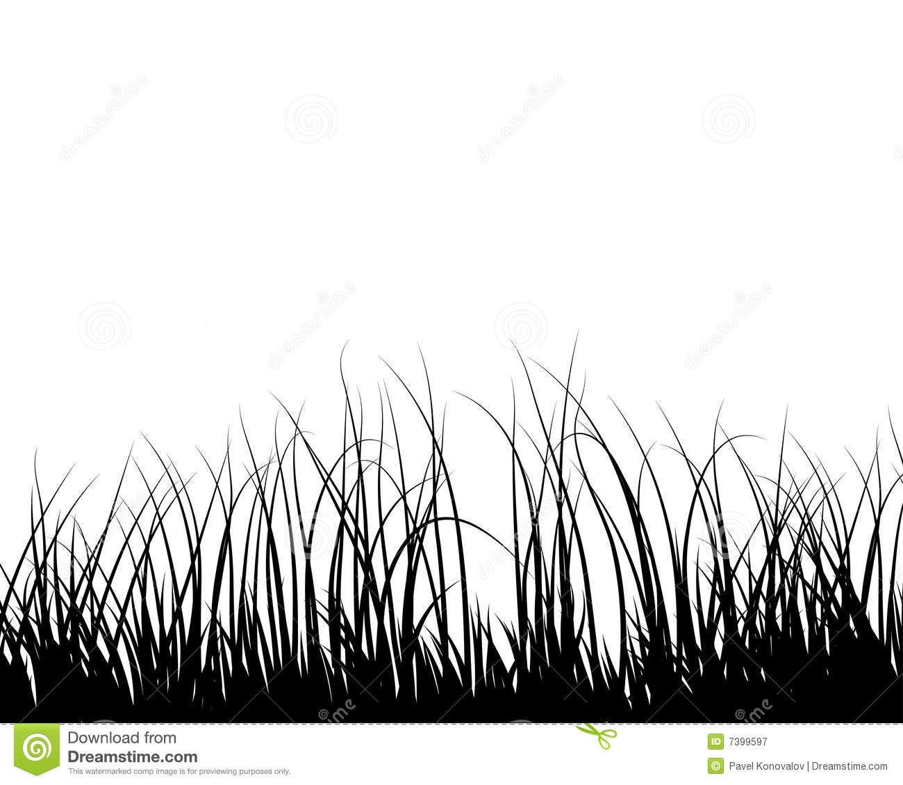 meadows plant silhouette stock vector image of forest