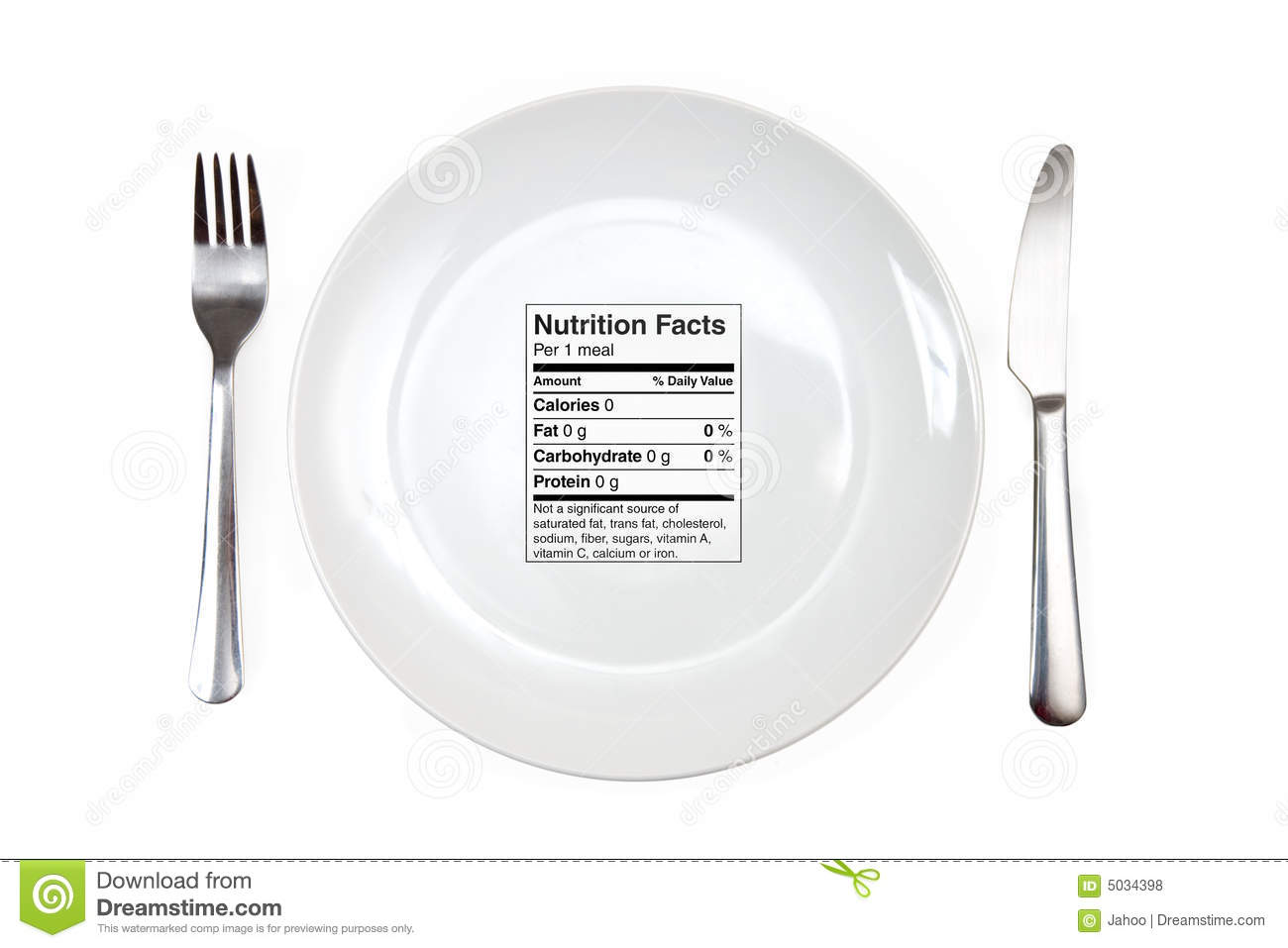 Meal with 0 calories