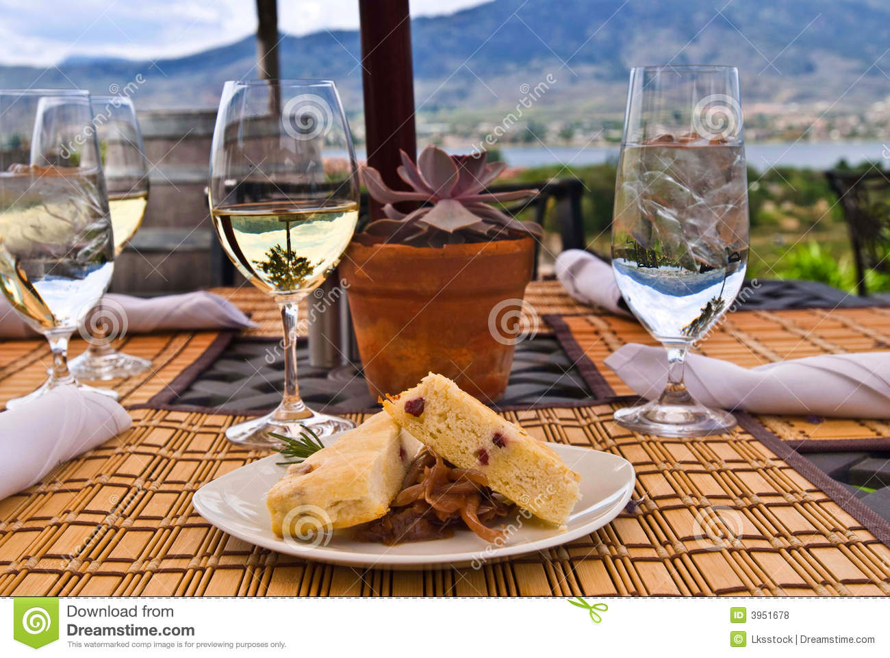 Meal at outdoor restaurant royalty free stock photos for Meal outdoors