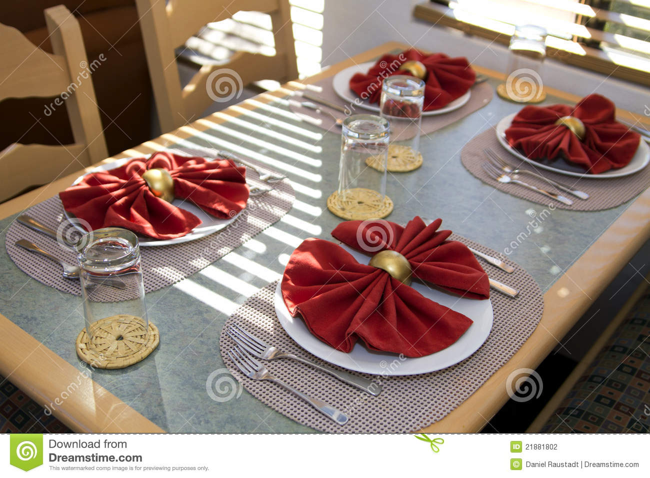Meal table place setting stock photography image 21881802 for Table place setting