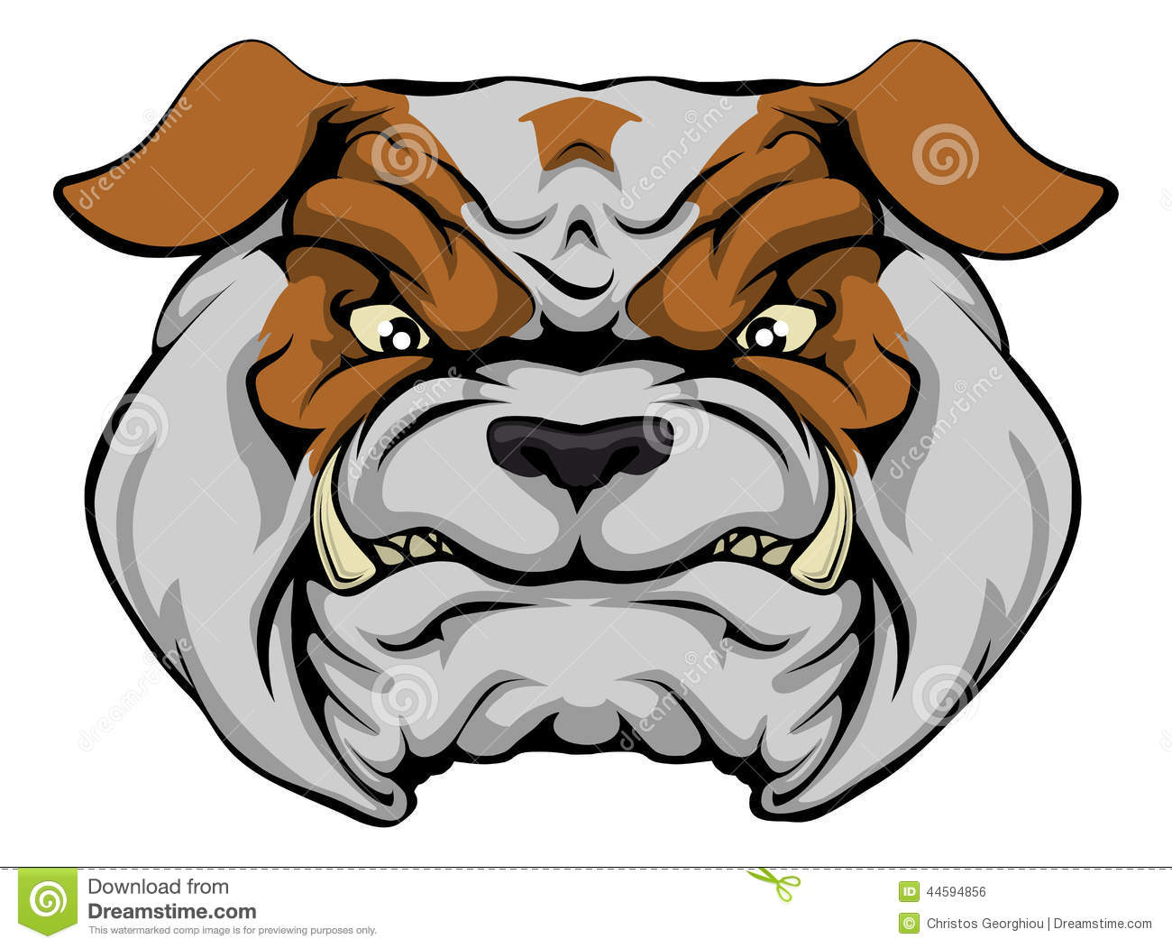 mean bulldog stock vector illustration of illustration free bulldog clipart images english bulldog clipart free