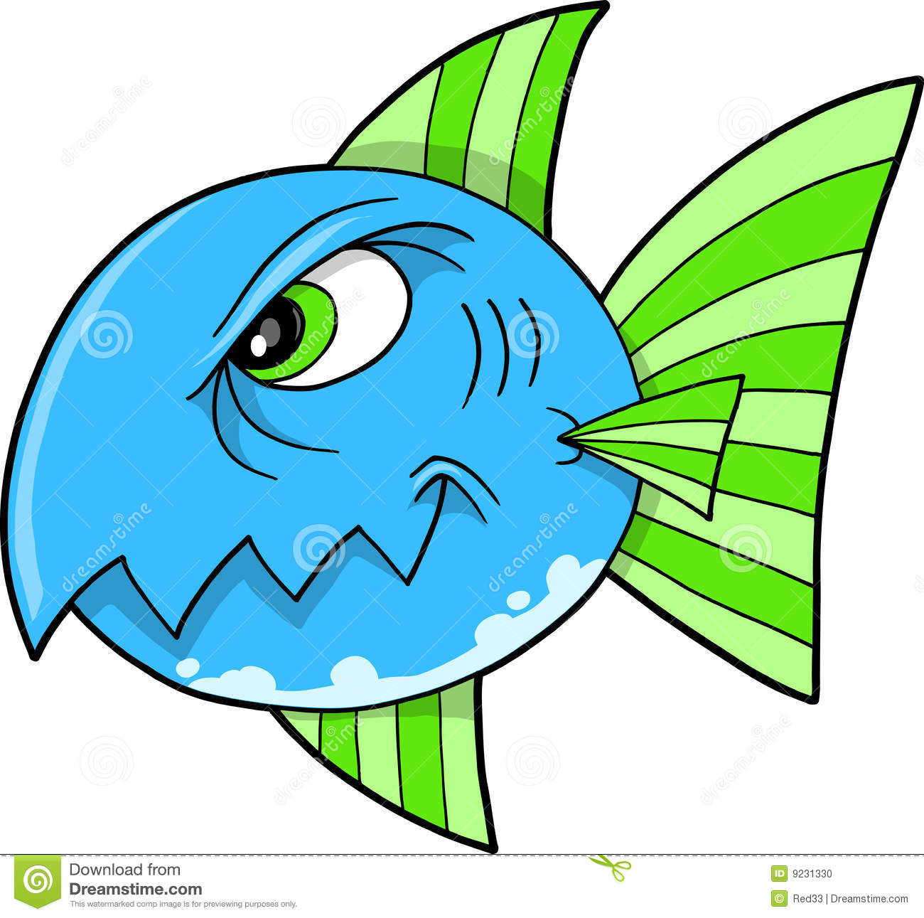 Mean fish shark vector stock photo image 9231330 for What does it mean to dream about fish