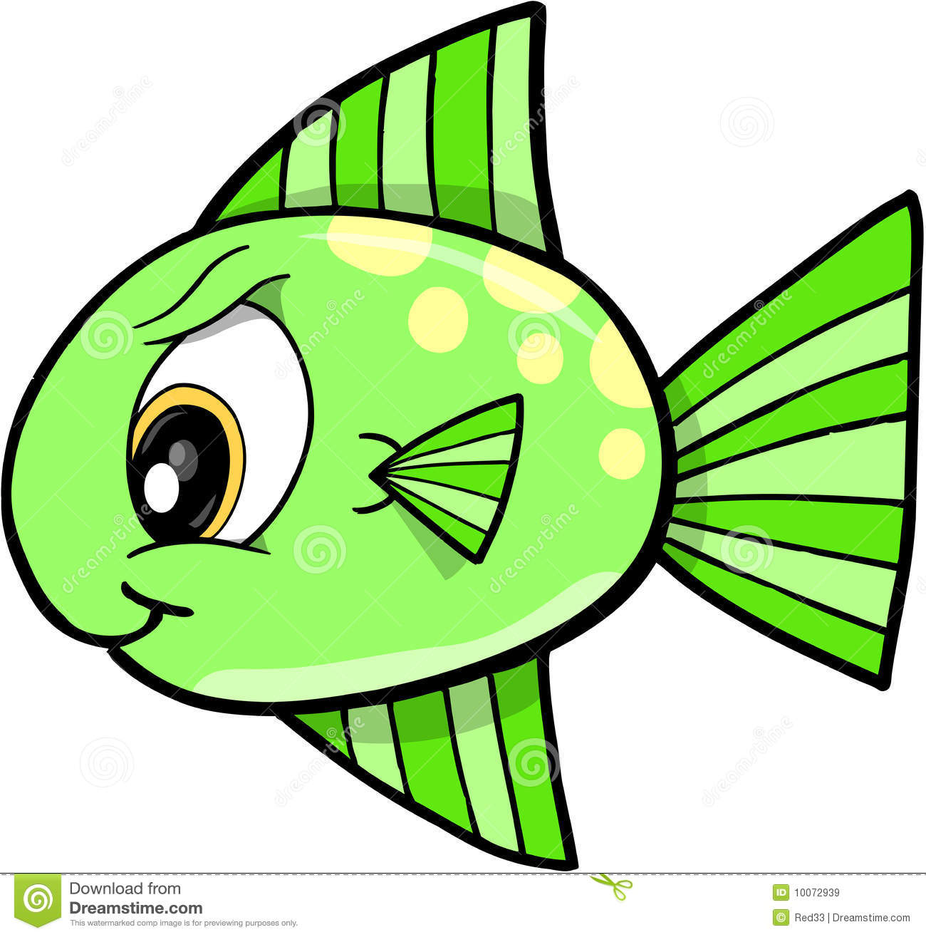 Mean green monster vector vector illustration for What does it mean to dream about fish