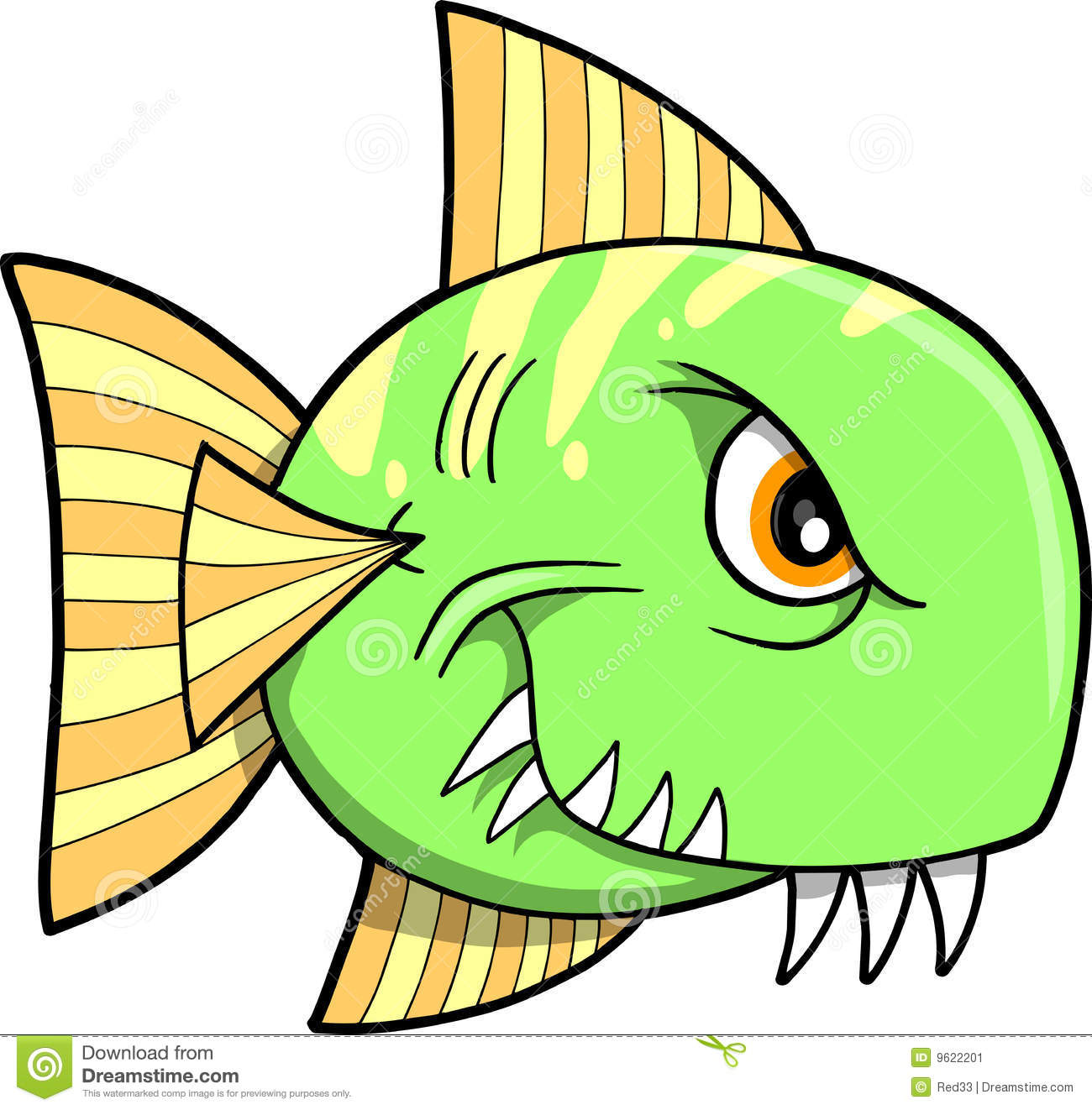 Mean fish vector illustration stock image image 9622201 for What does it mean to dream about fish