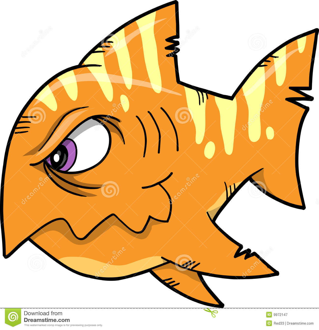 Mean fish vector illustration royalty free stock for What does it mean to dream about fish
