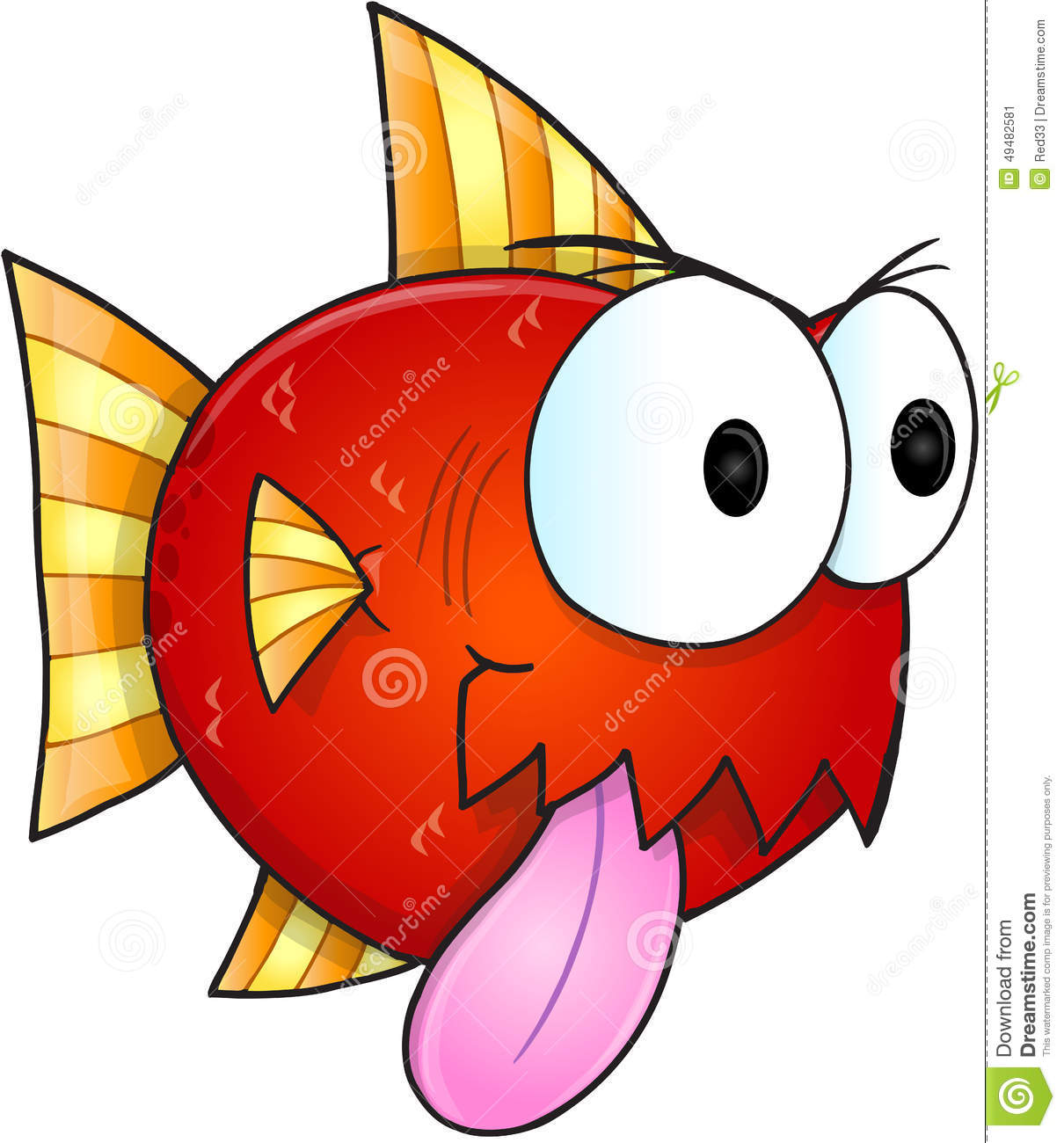 Mean fish vector stock vector image 49482581 for What does it mean to dream about fish