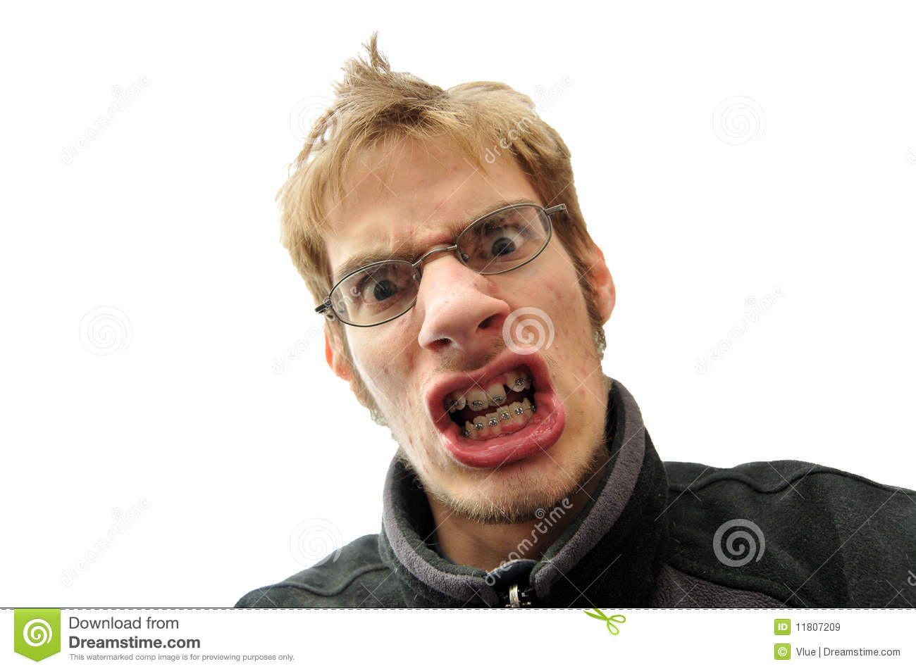 Mean Man With Braces Royalty Free Stock Images - Image ...