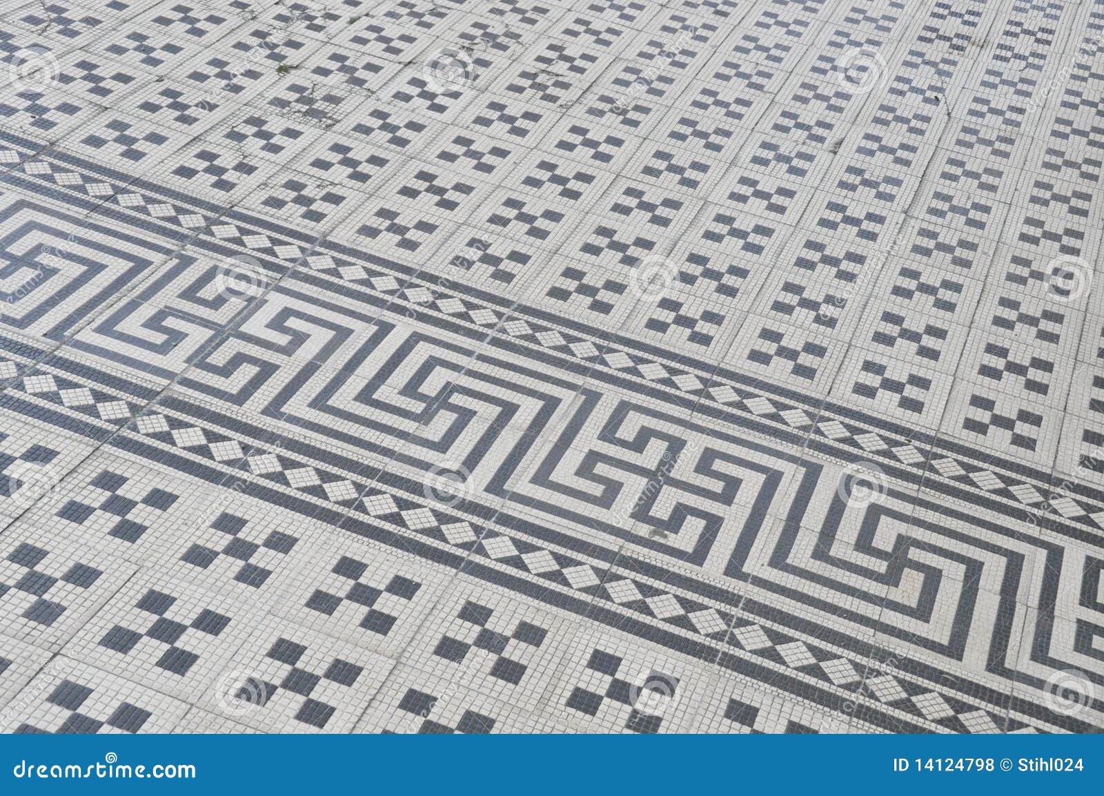Meander Vintage Ceramic Tiles Royalty Free Stock Photos