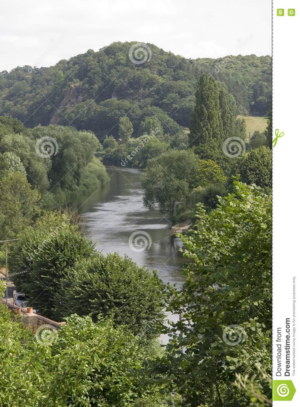 Meandering River Stock Images