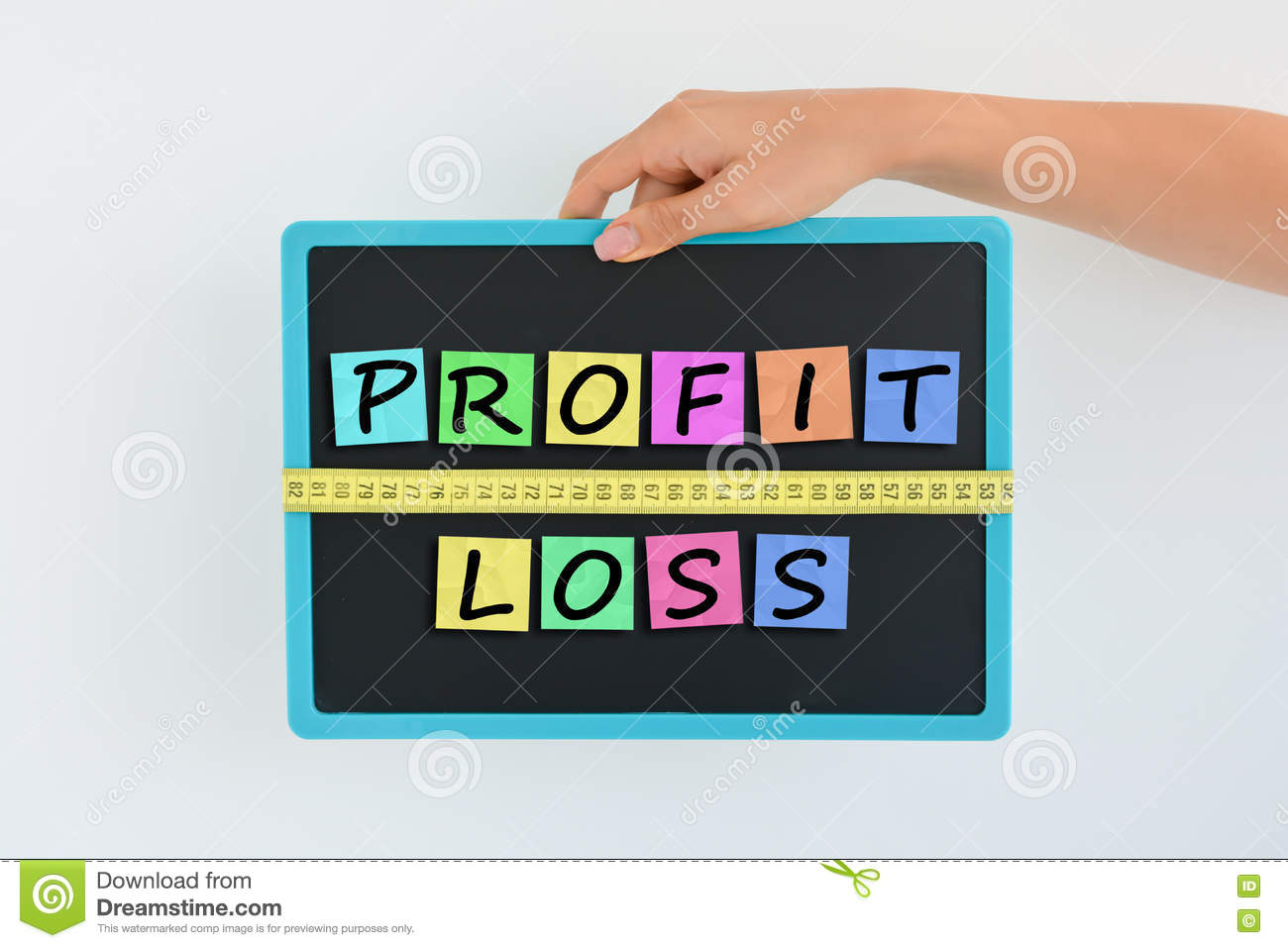 Measure Your Profit And Losses Concept Stock Image Of Measuring Tape Diagram