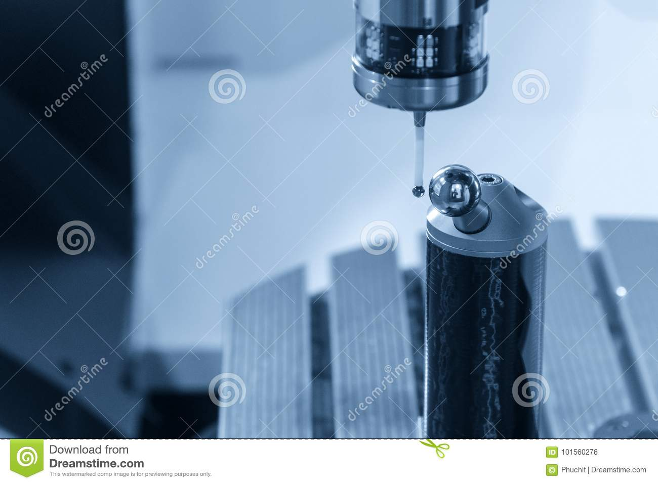 The measurement probe stock photo  Image of inspection