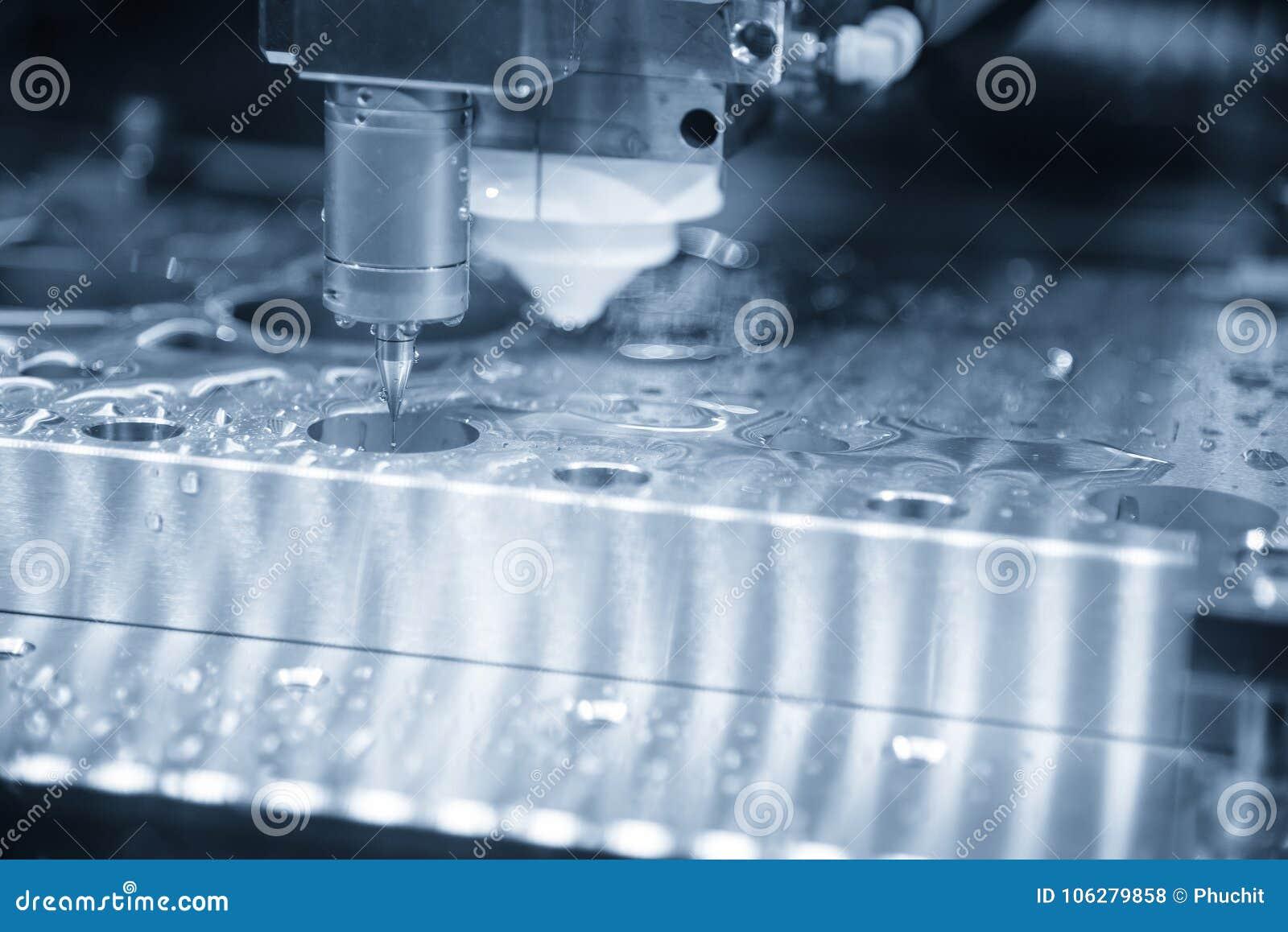 The Measurement Probe Attach On The Wire-EDM Machine. Stock Photo ...
