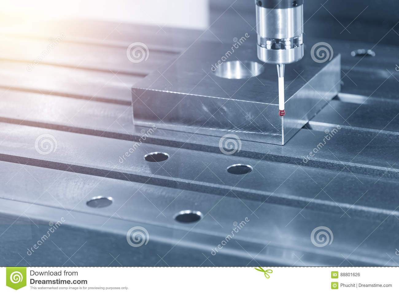 The measurement probe stock photo. Image of dimensional - 88801626
