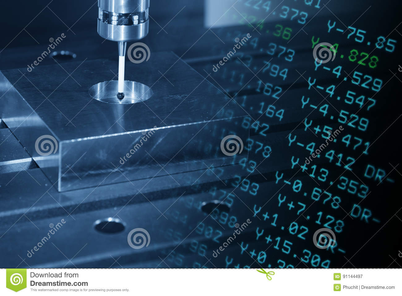 The measurement probe stock image. Image of laser, part - 91144497
