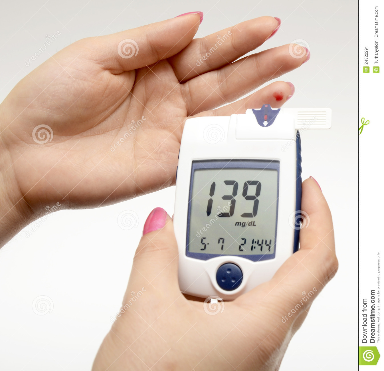 Credit Score Levels >> Measuring Blood Sugar Stock Image - Image: 24822291