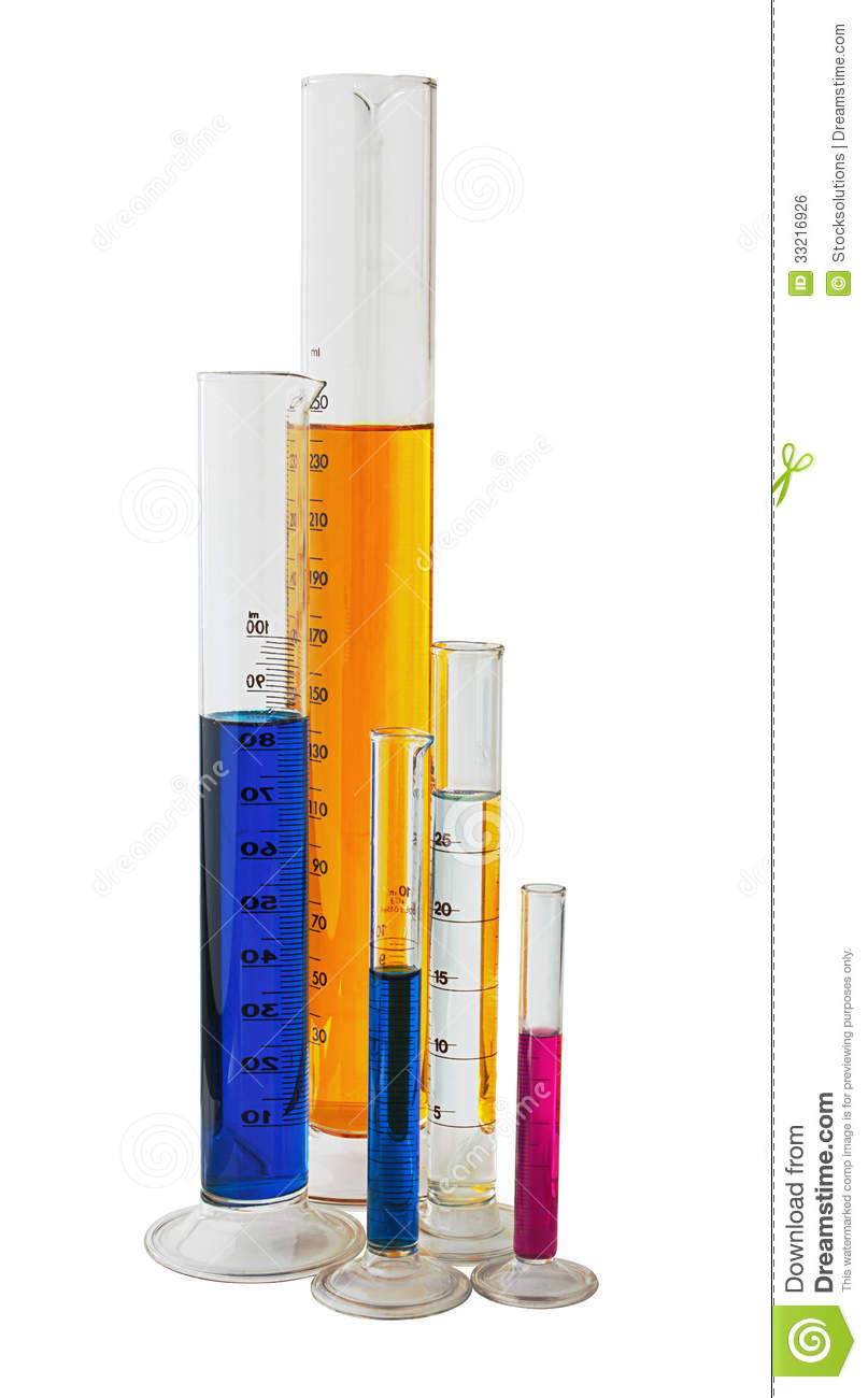 Measuring Graduated Cylinders Royalty Free Stock Image