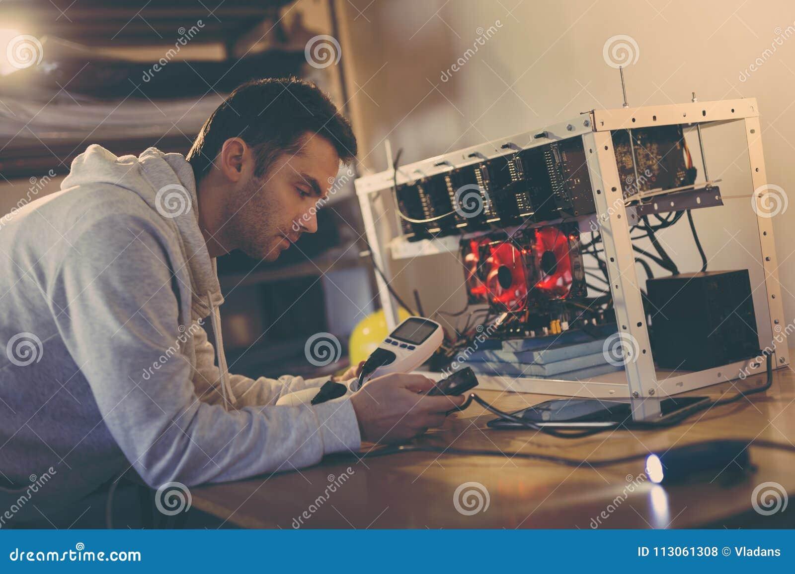 setting up cryptocurrency mining set up