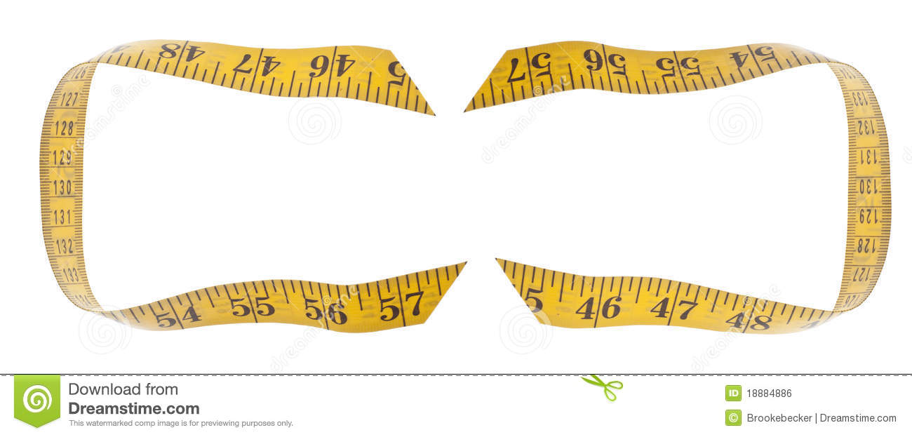 Vector of tape measure border a page border created from a rag tape - Background Border Clipping Concept Diet Isolated Measuring Path Tape