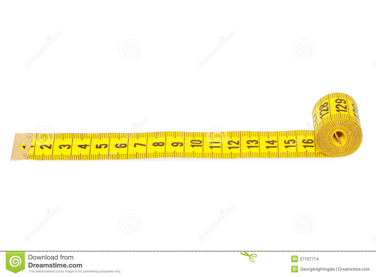 Measuring Tape Of The Tailor Stock Images - Image: 27107714