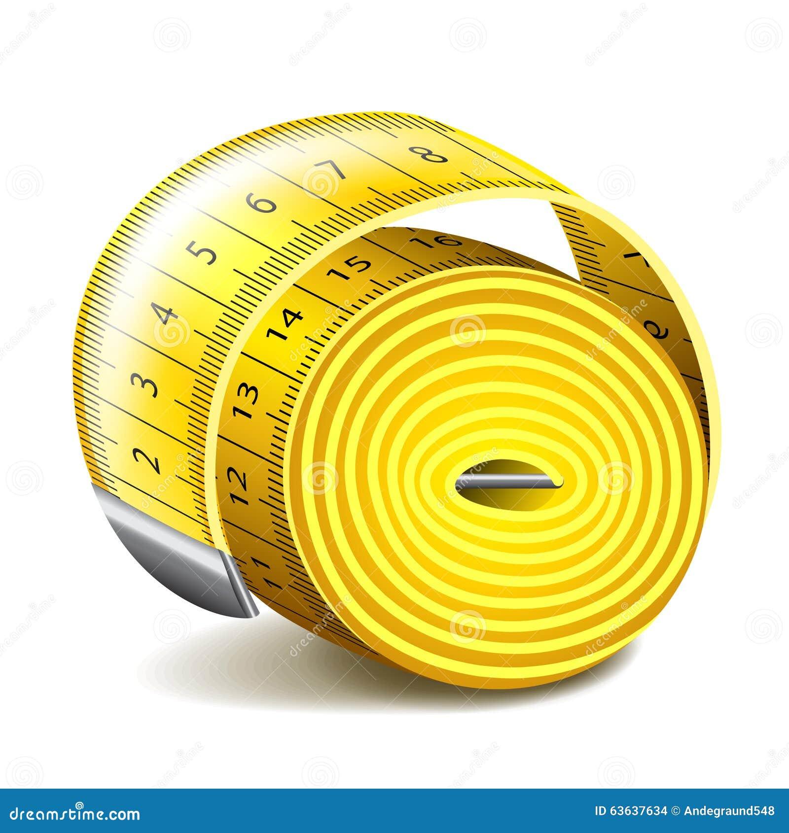 Measuring Tape On White Vector Stock Vector - Image: 63637634