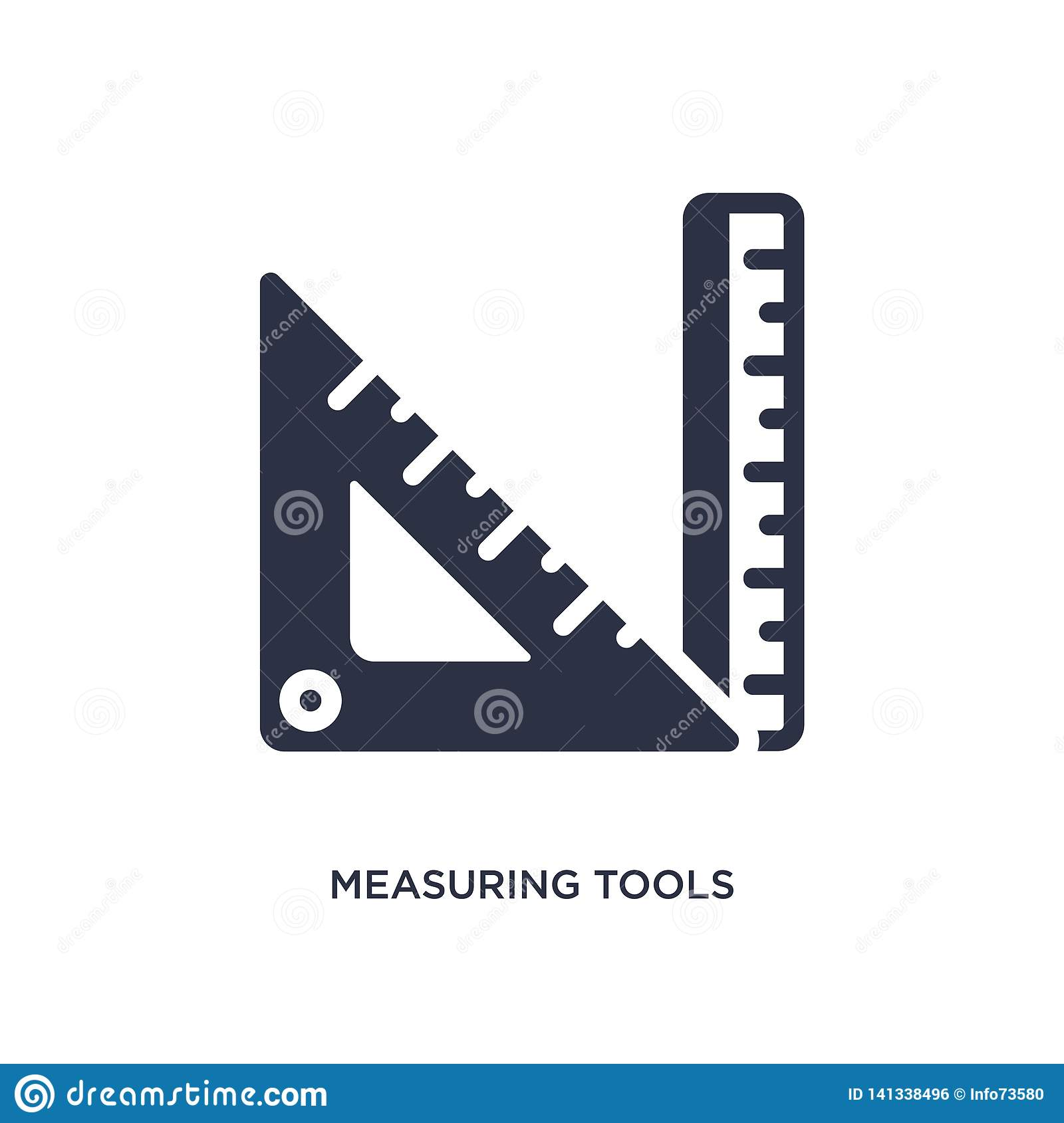 measuring tools icon on white background. Simple element illustration from education concept