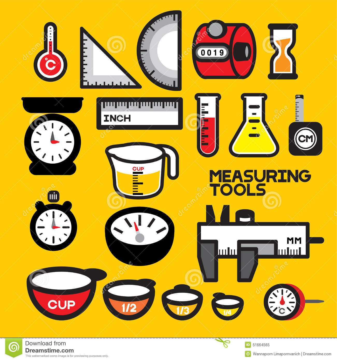 Examples Of Measurement Instruments : Measuring tools stock vector image of mechanics freezing
