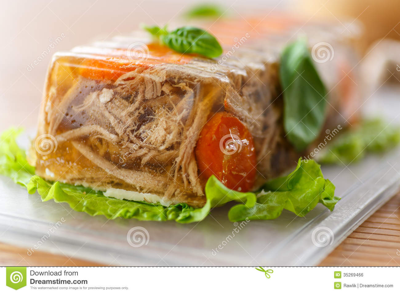 Meat Aspic Royalty Free Stock Image - Image: 35269466