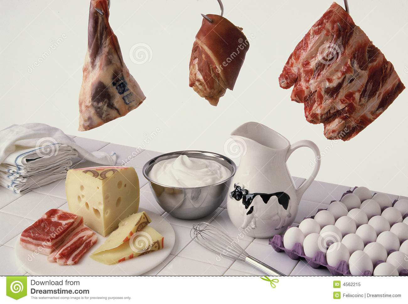meat and dairy stock image image of food eggs cheese