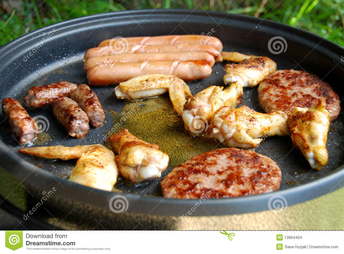 Meat Electric Grill Barbecue Stock Photo - Image: 13904404