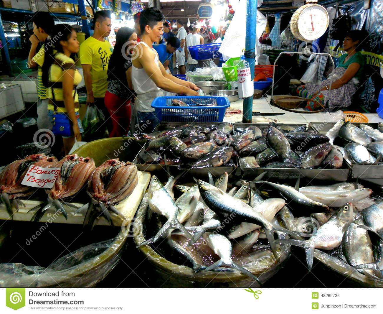Meat and fish vendor in a wet market in cubao quezon for Koi pond quezon city