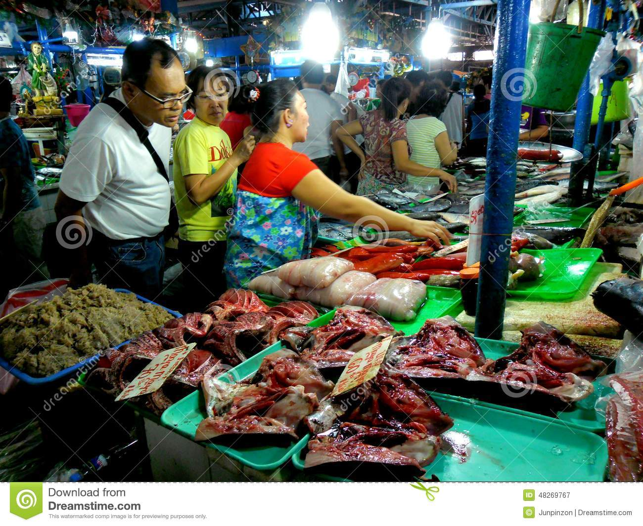 ... wet market in cubao , quezon city, philippines Editorial Photography: www.dreamstime.com/editorial-photography-meat-fish-vendor-wet...