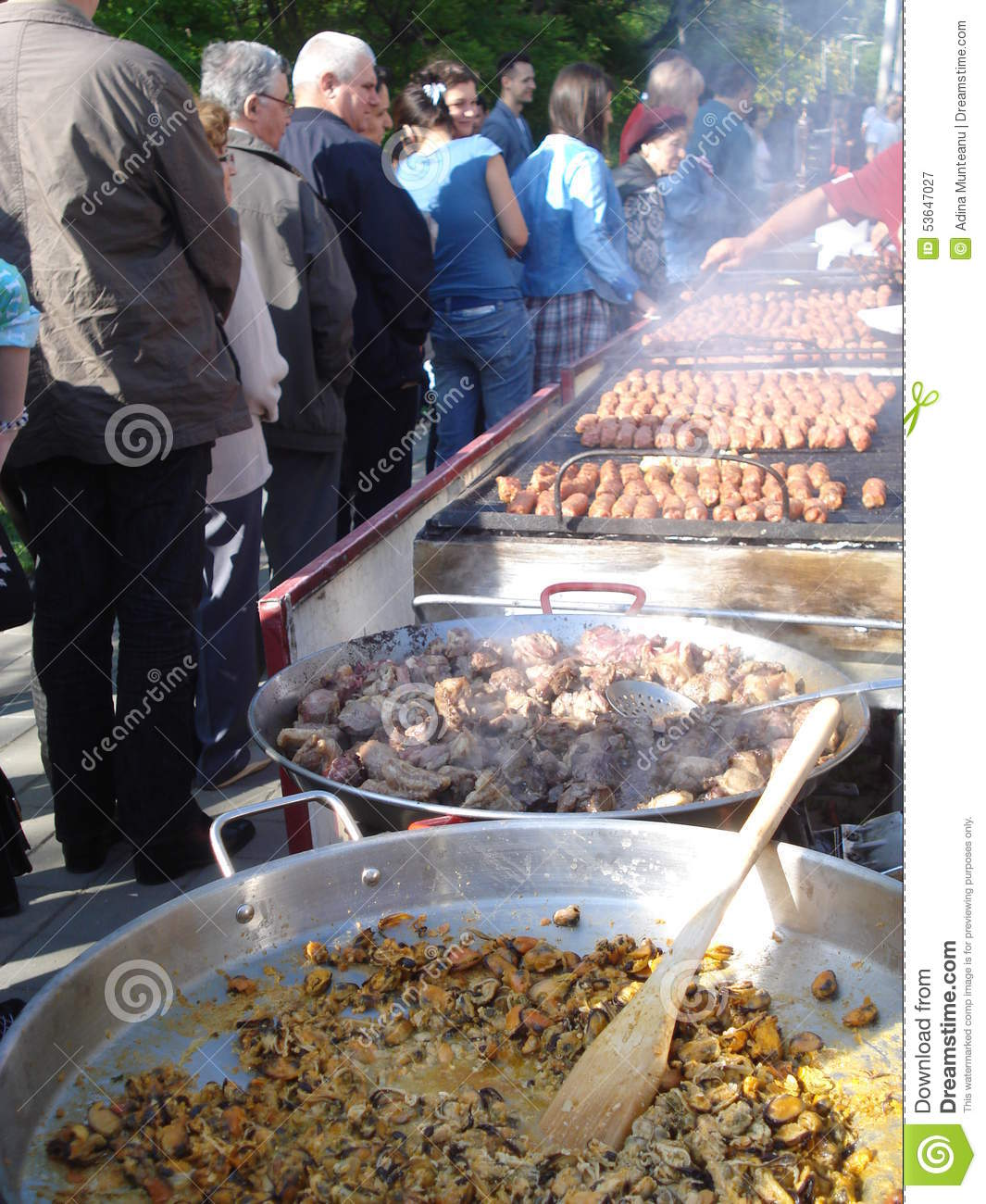 Cooked-food Stall In Central, Hong Kong Editorial Image