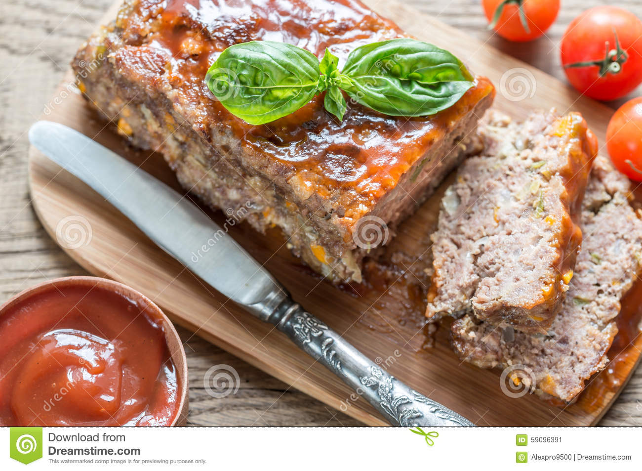 Meat loaf with barbecue sauce Meat