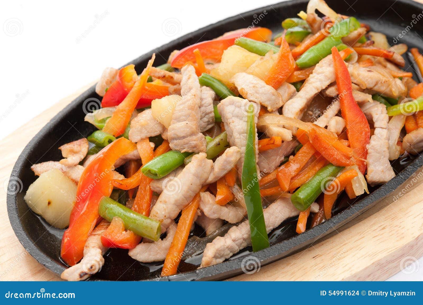 Meat med grönsaker
