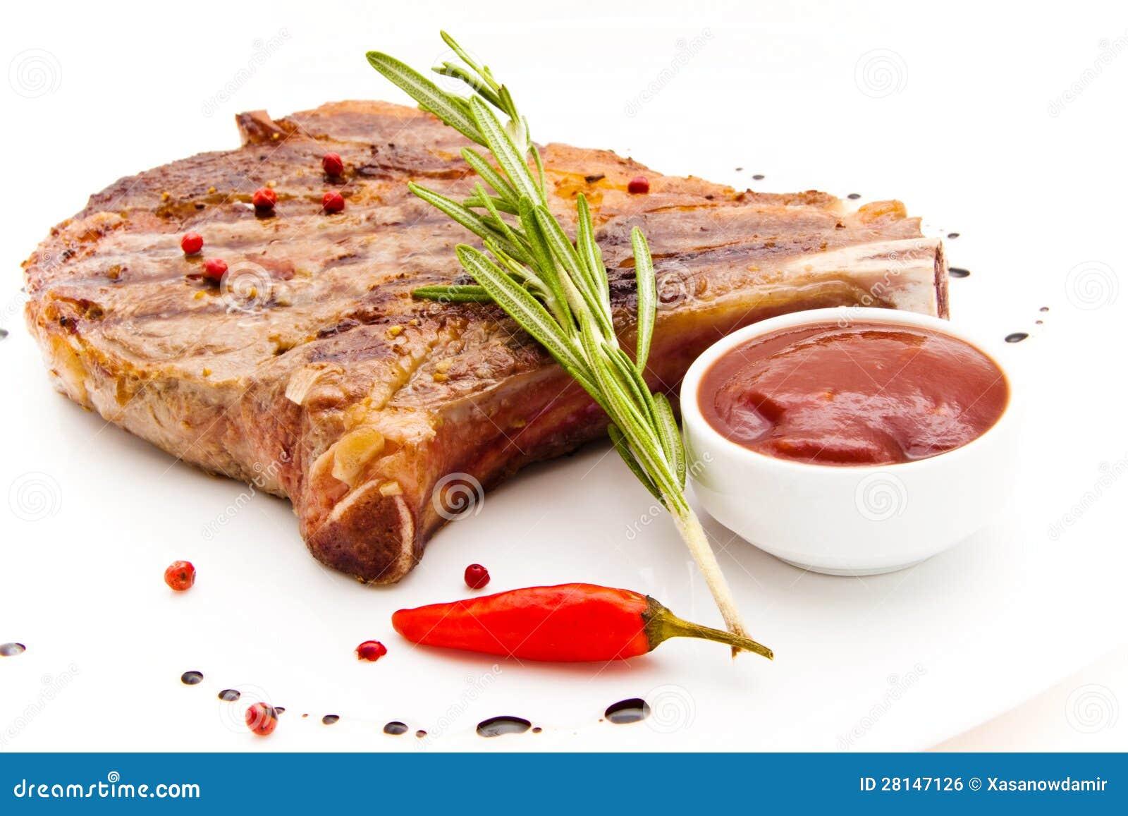 Meat på grilla