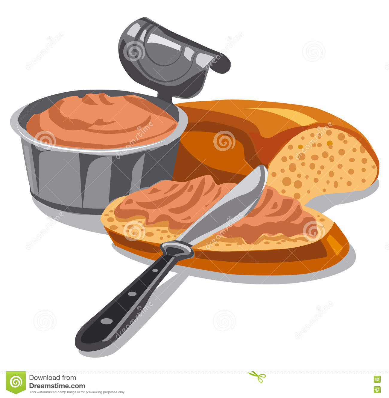 Meat pate on sliced bread